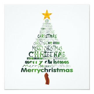 Inbjudan för god julträdparty