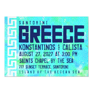 Inbjudan för GREKLAND destinationsbröllop