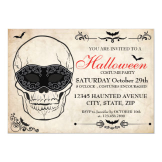 Inbjudan för Halloween dräktparty
