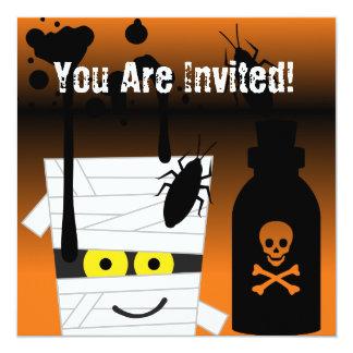 Inbjudan för Halloween mammaparty Fyrkantigt 13,3 Cm Inbjudningskort