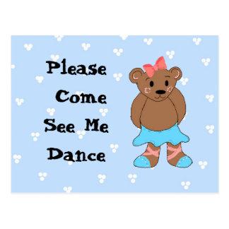 Inbjudan för högläsning för Ballerinabjörndans