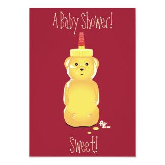 Inbjudan för honungbjörnbaby shower