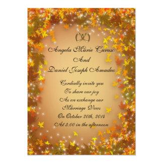 Inbjudan för höst lövnedgångbröllop
