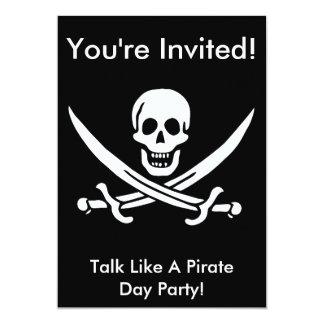 Inbjudan för jackRackham pirat