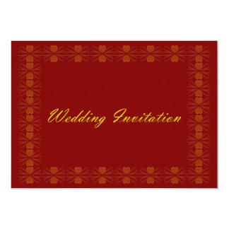 Inbjudan för kärlekkrypbröllop - Burgundy