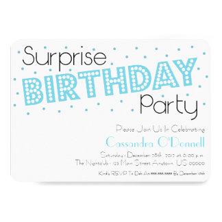 Inbjudan för konfettiöverrrakningfödelsedagsfest