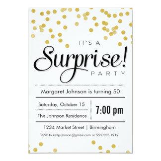 Inbjudan för konfettiöverrrakningparty