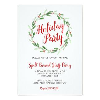 Inbjudan för kran för julpartygrönska