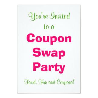 Inbjudan för kupongSwapparty - rosor och grönt