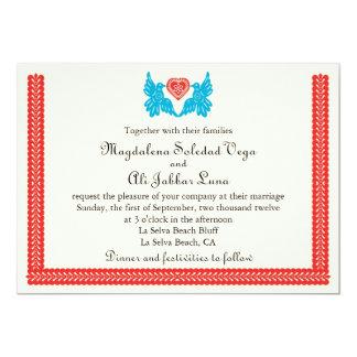 Inbjudan för love birdsPapel Picado bröllop
