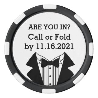 Inbjudan för man eller för Groomsman för Poker Marker