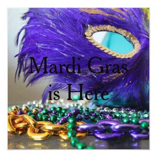 Inbjudan för Mardi Gras maskeradparty