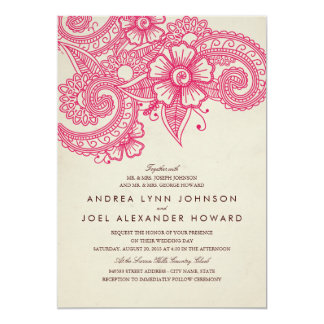 Inbjudan för modMehandi bröllop
