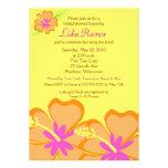 Inbjudan för möhippa 5x7 för hibiskusblomma tropis