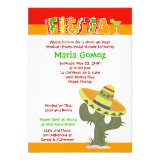 Inbjudan för möhippa för tema 5x7 för Fiesta mexic