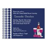 Inbjudan för möhippa för vin- och ostparty 5x7 12,7 x 17,8 cm inbjudningskort