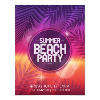 Inbjudan för natt för sommarstrandparty 10,8 x 14 cm inbjudningskort