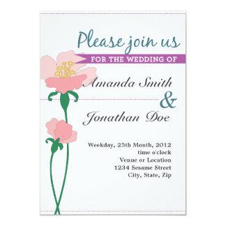 Inbjudan för Nouveau blommabröllop