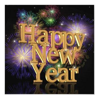 Inbjudan för nyårsaftonpartyfirewworks