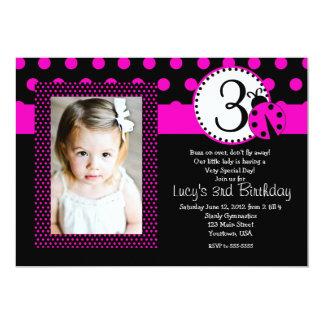 Inbjudan för nyckelpigapartyfödelsedag