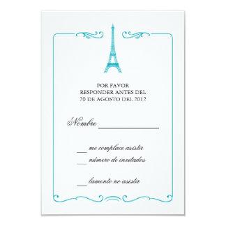 Inbjudan för OSA kort för Eiffel torn elegant