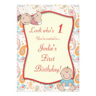 Inbjudan för Paisley barns födelsedagparty