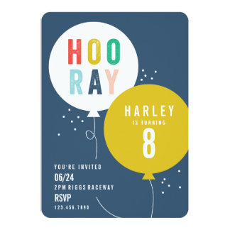 Inbjudan för party för ballonggruppbarns