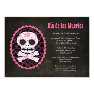 Inbjudan för party för day of the dead för