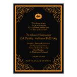 Inbjudan för party för dräkt för Halloween