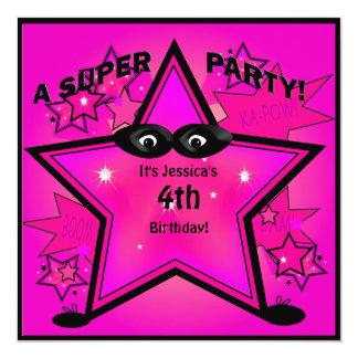 Inbjudan för party för flicka för födelsedag för