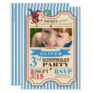 Inbjudan för party för foto för födelsedag   för