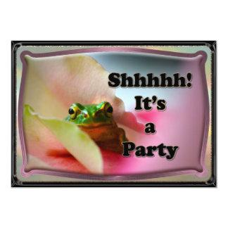 Inbjudan för party för grodanederlagöverrrakning