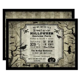 Inbjudan för party för Halloween Silhouettedräkt