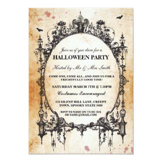 Inbjudan för party för Halloween svart gotisk