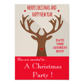 Inbjudan för party för Hipsterrenjul