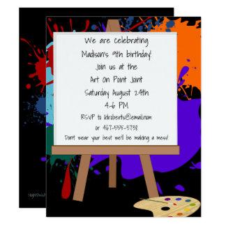 Inbjudan för party för konststafflimålning