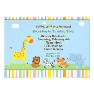 Inbjudan för party för partydjurbarns födelsedag