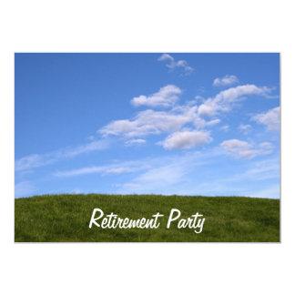 Inbjudan för party för pension för blå