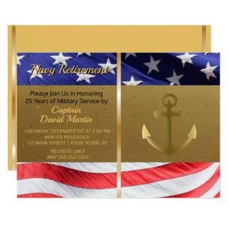 Inbjudan för party för pension för marinsjöman