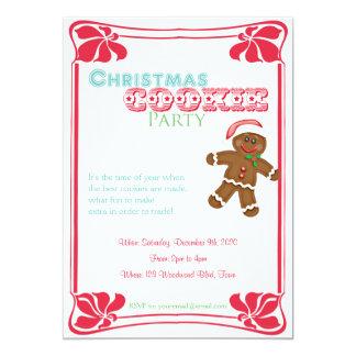 Inbjudan för party för pepparkaksgubbejulkaka