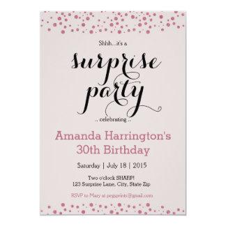 Inbjudan för party för rosaglitteröverrrakning