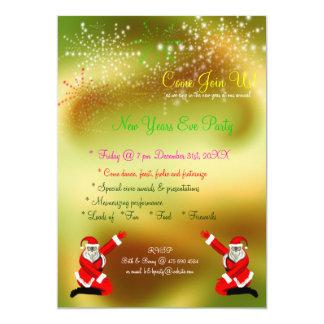 Inbjudan för party för Santa fyrverkerinyårsafton