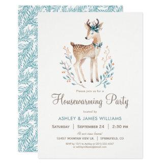 Inbjudan för party för skogsmarkhjort