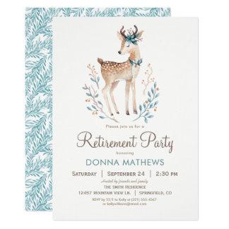 Inbjudan för party för skogsmarkhjortpension