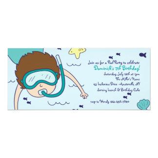 Inbjudan för party för Snorkelungebassäng