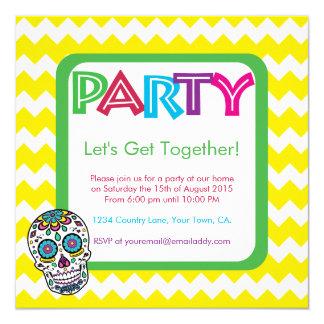 Inbjudan för party för sockerskallefärg