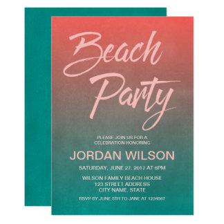 Inbjudan för party för strand för årsdag för
