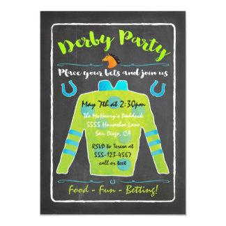 Inbjudan för party för svart tavlaDerby