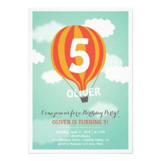 Inbjudan för party för ungar för luftballongfödels