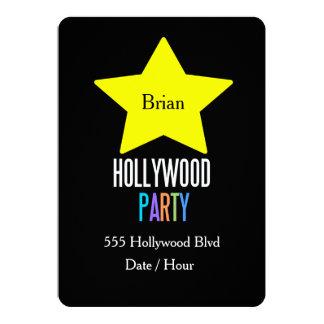 Inbjudan för party för UNGEHollywood stjärna